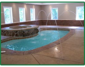 Indoor Pool & Spa installed by Ohio Custom Pool and Patio